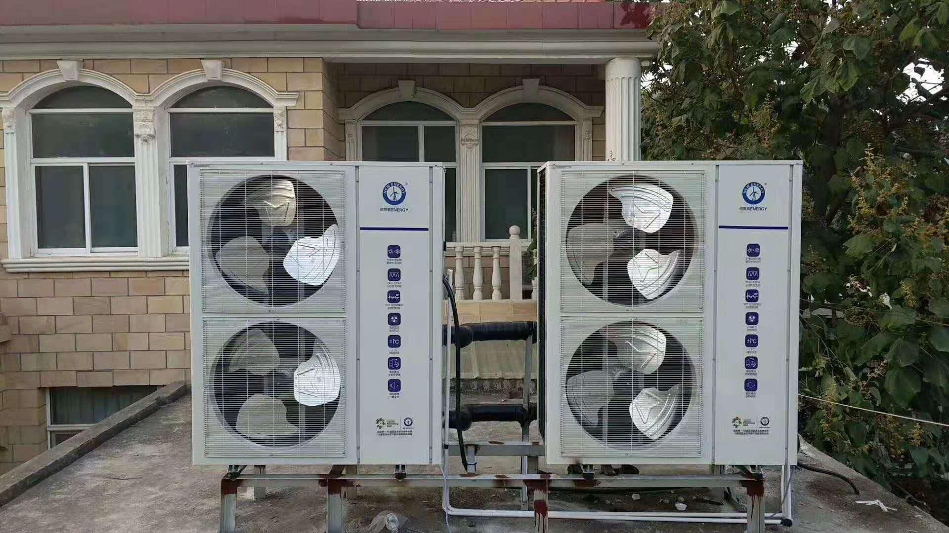 空气能地暖空调一体安装案例