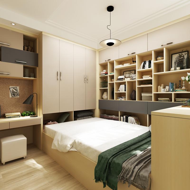 小房榻榻米组合柜设计图展示
