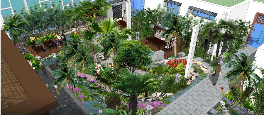 阳光房屋顶花园