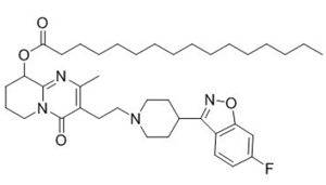 the structural formula of Pamperidone Palmitate
