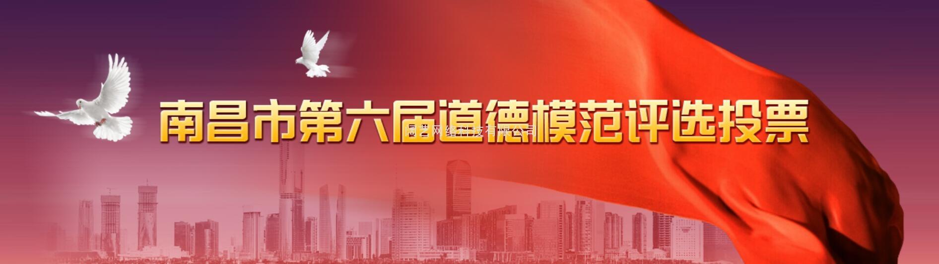 南昌市第六届道德模范评选投票