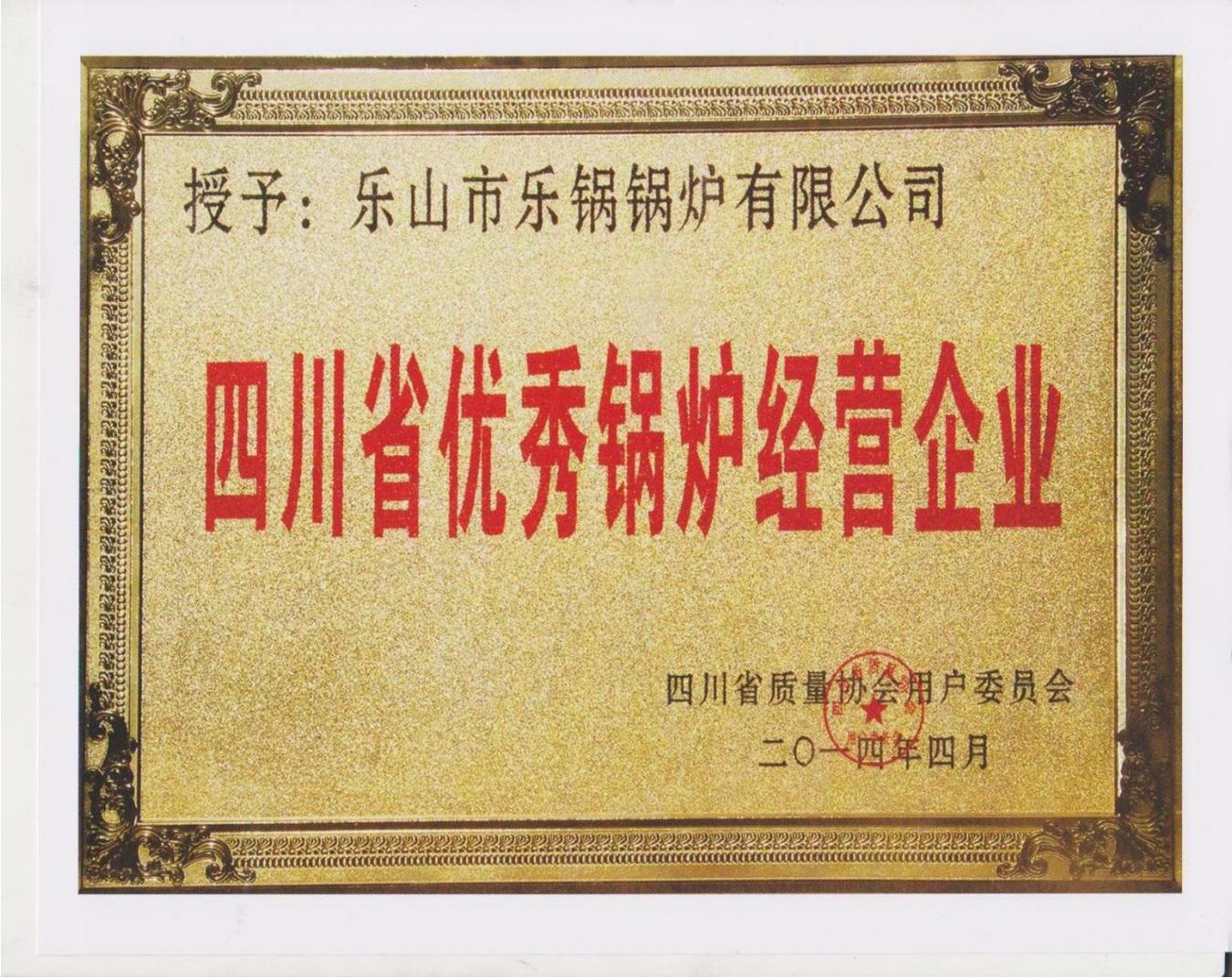 四川省優秀鍋爐經營企業