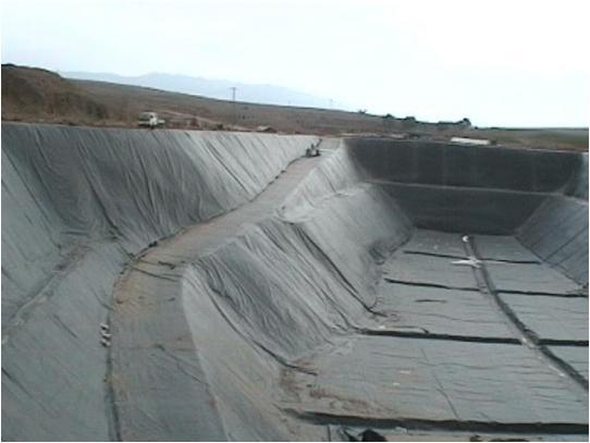 土工膜用于垃圾填埋场