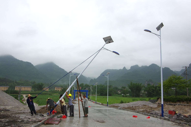 村民自主安装威廉体育app路灯