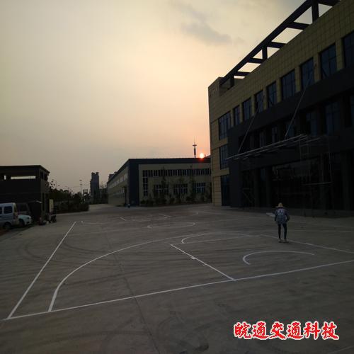 环泰科技篮球场划线