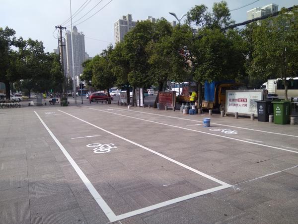 滁州市人力资源市场非机动车位标线