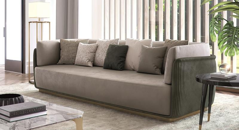 酒店大堂沙发别墅绒布沙发加长款高档休闲沙发