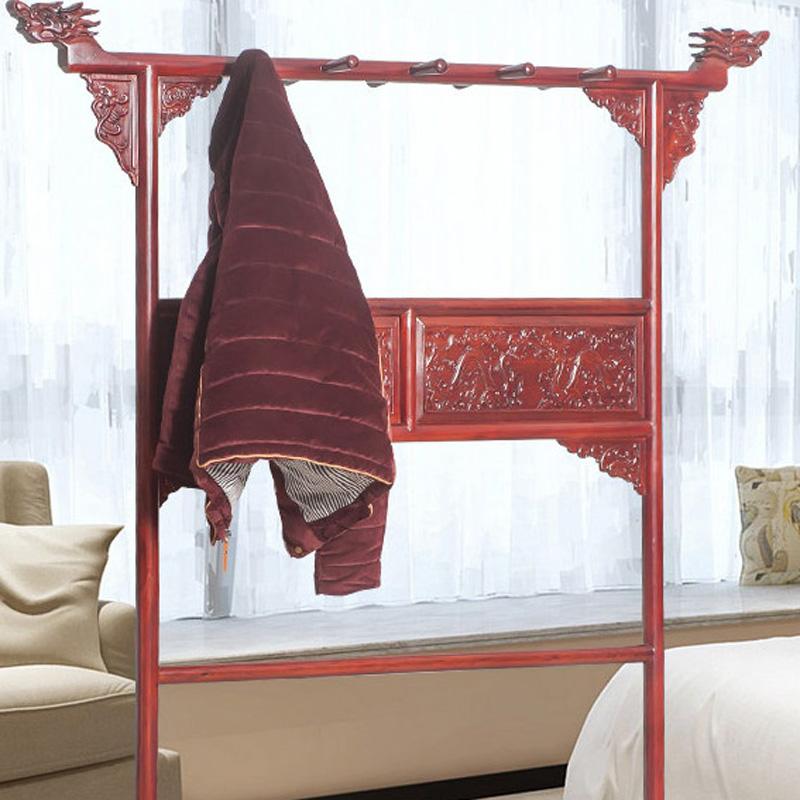 红木家具非洲酸枝木龙头小挂衣架