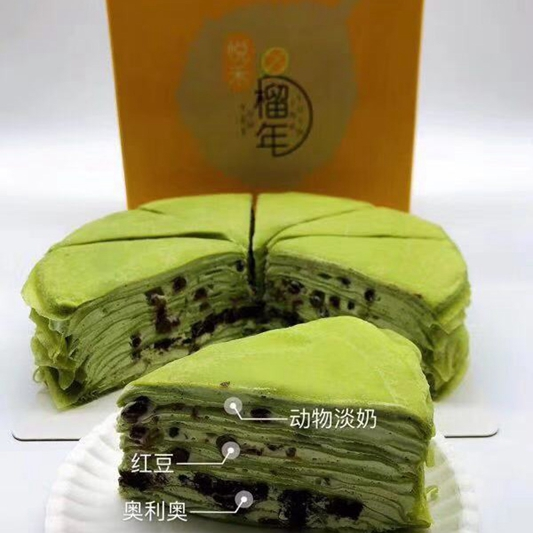 抹茶奧利奧千層蛋糕