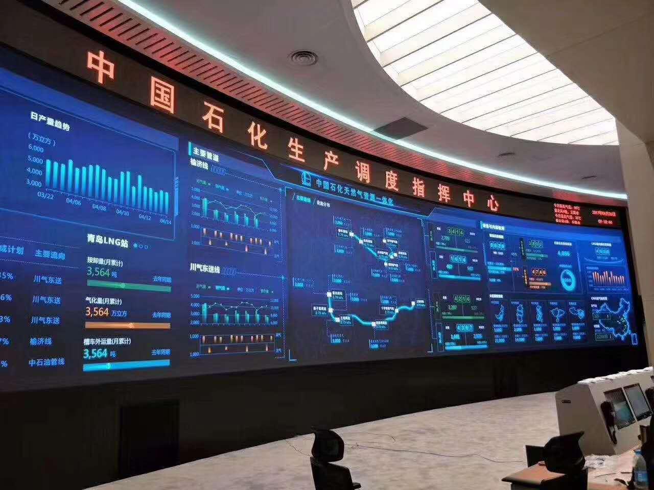 石化led大屏幕安装