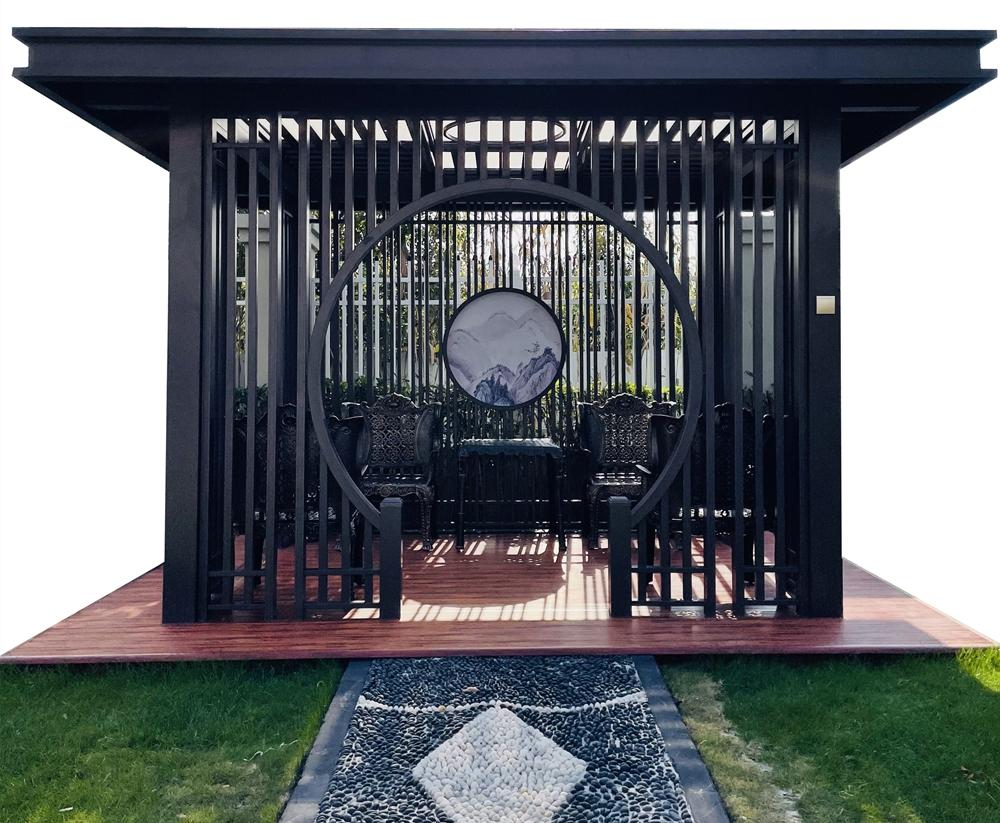 鋁藝新中式涼亭